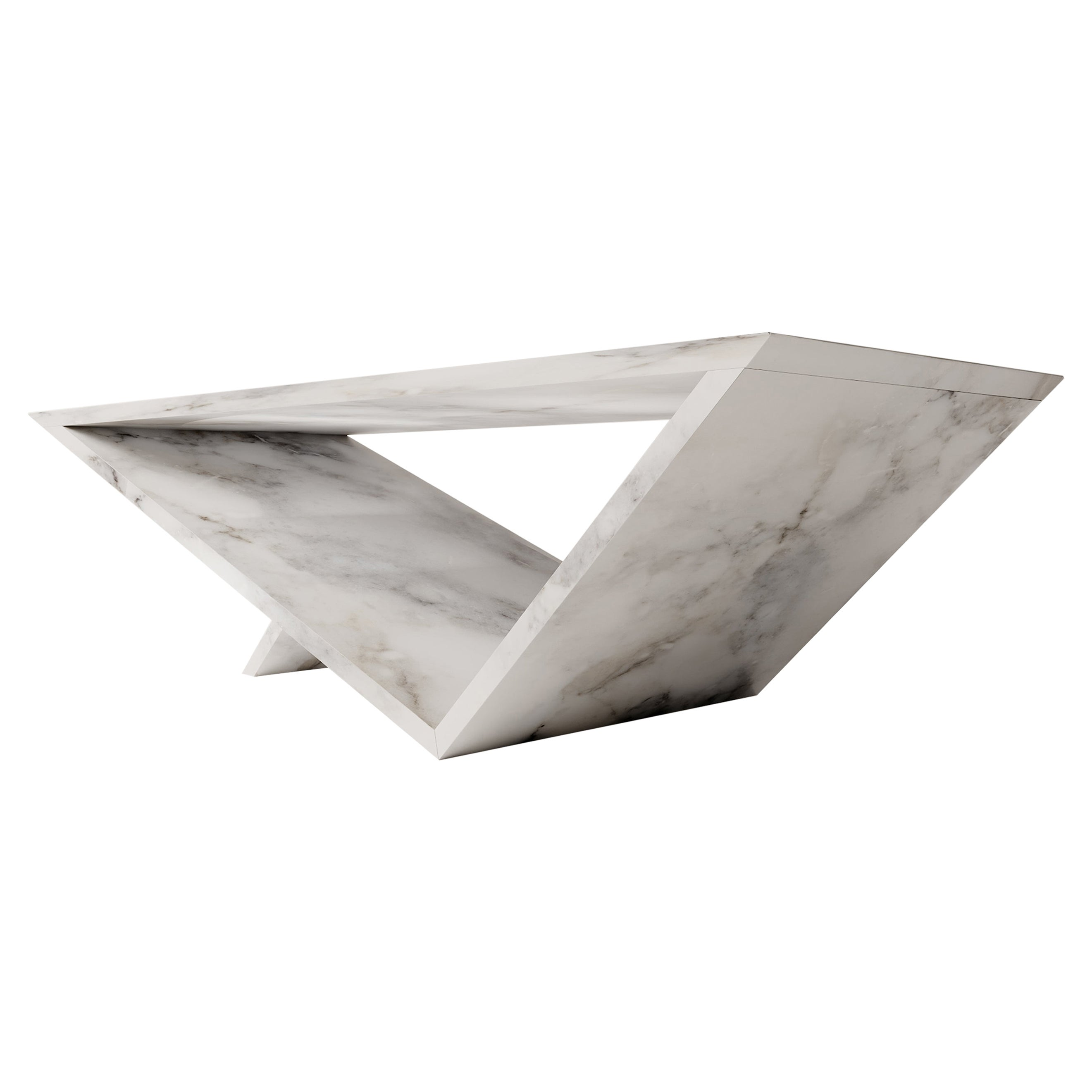 Time/Space Portal Table, Marble Coffee Table, a Collection by Neal Aronowitz