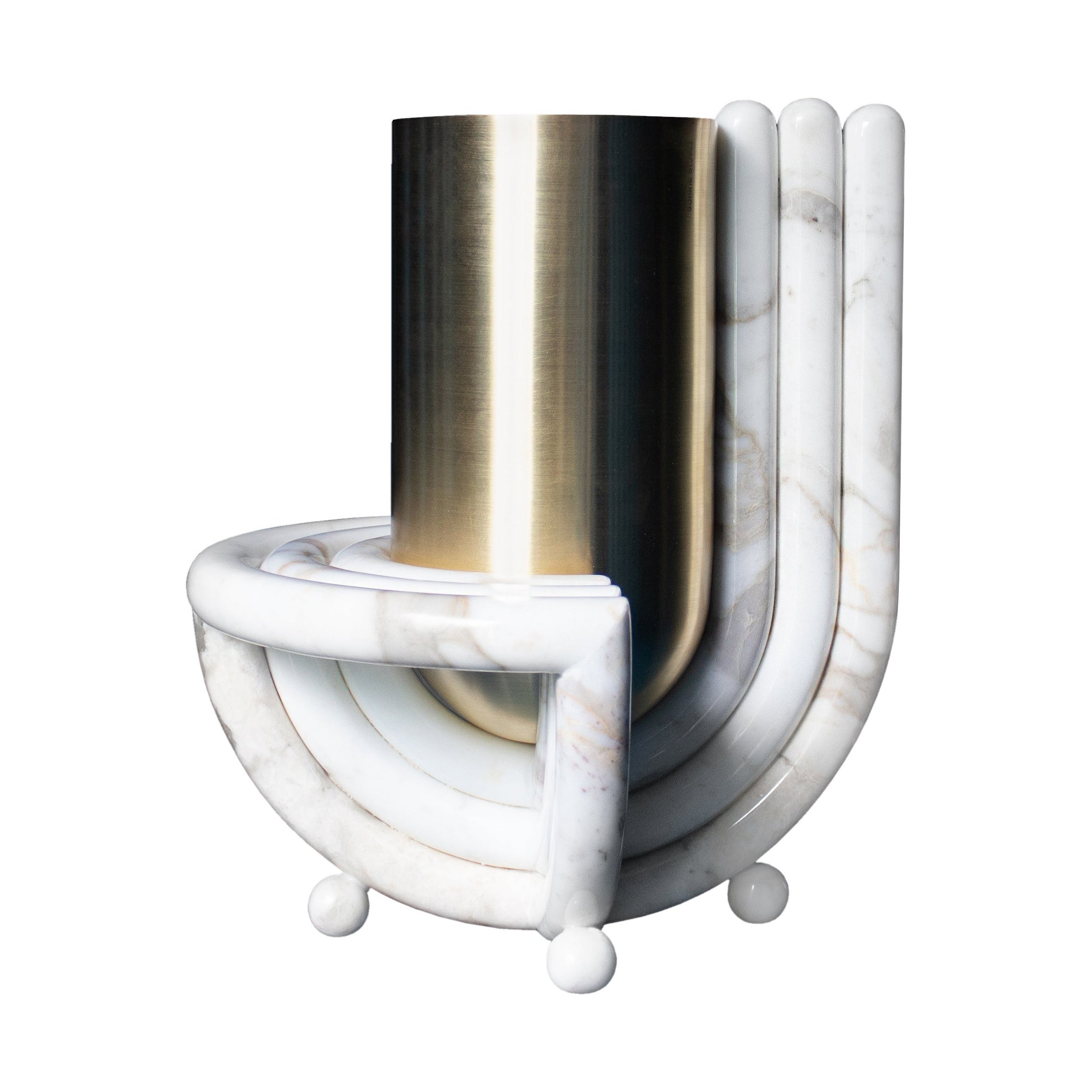 Jupiter Vase, Marble and Brass, by Bohinc Studio