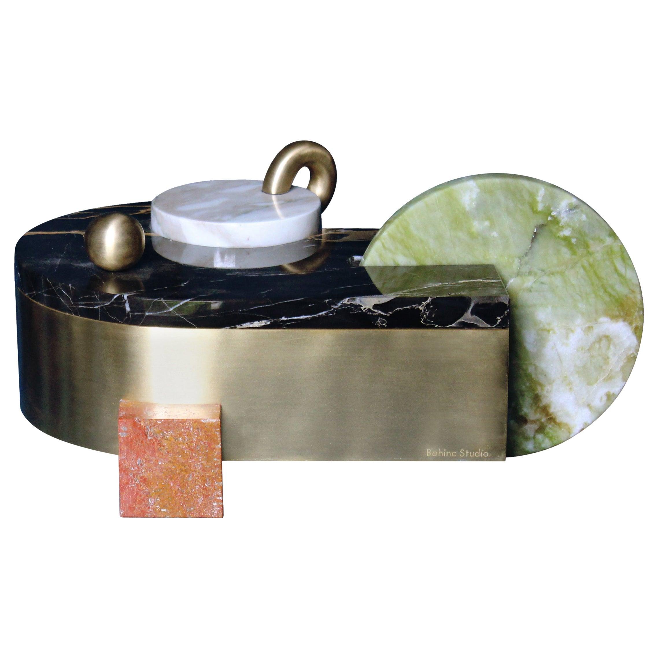 Juno Box, Marble and Brass, by Bohinc Studio