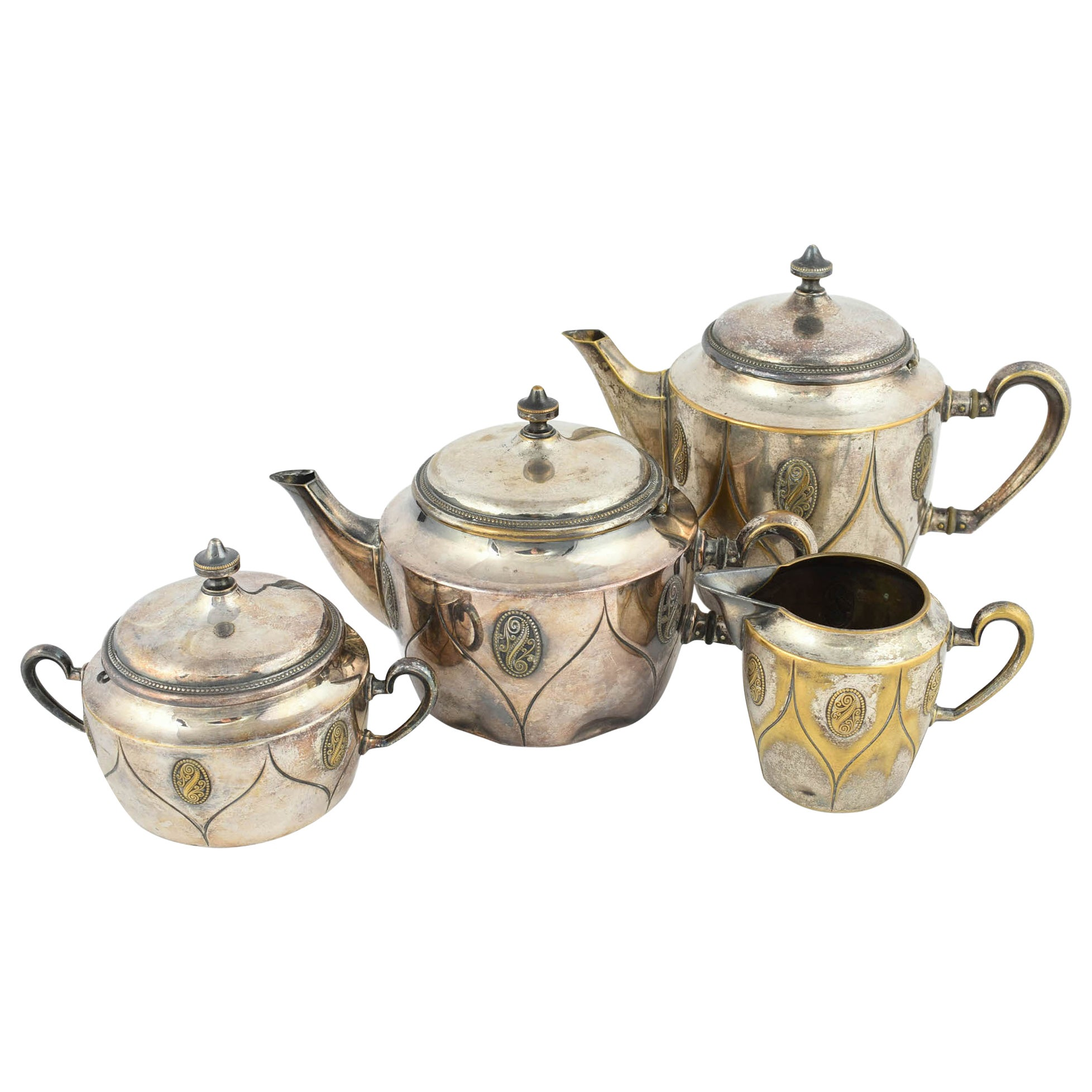 Vintage Silver Coffee and Tea Set by Wmf