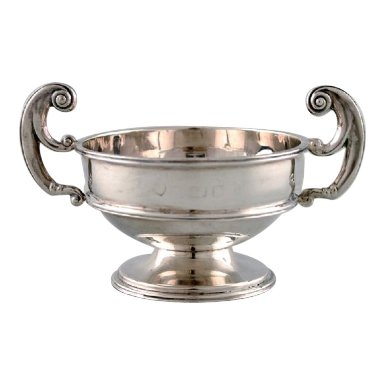 Birmingham, England, Silver Salt Cellar, Neoclassical Style, Dated 1902/03