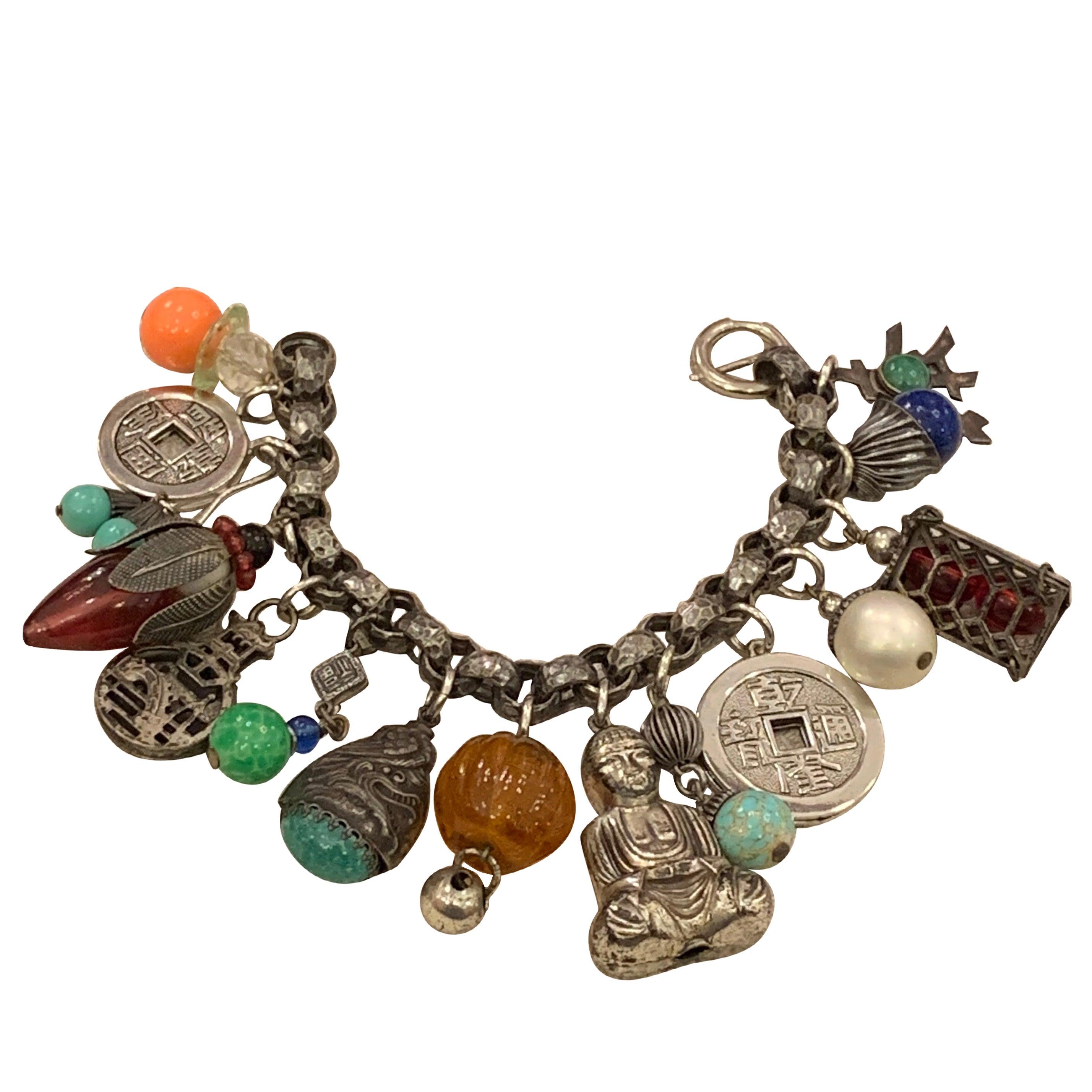 "Vintage Napier ""Charm-Ing"" Chinoiserie Bracelet"