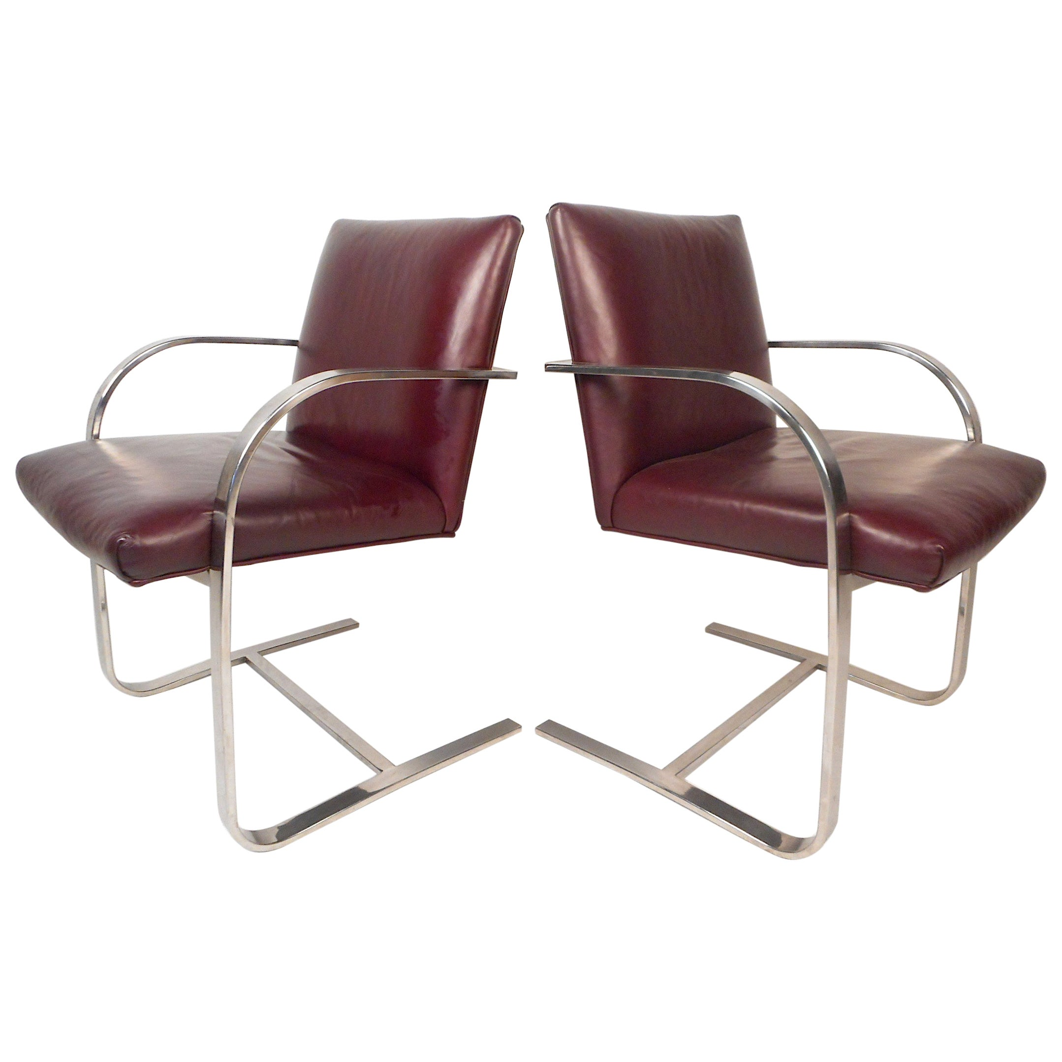 Pair of Mid-Century Cantilever Chairs