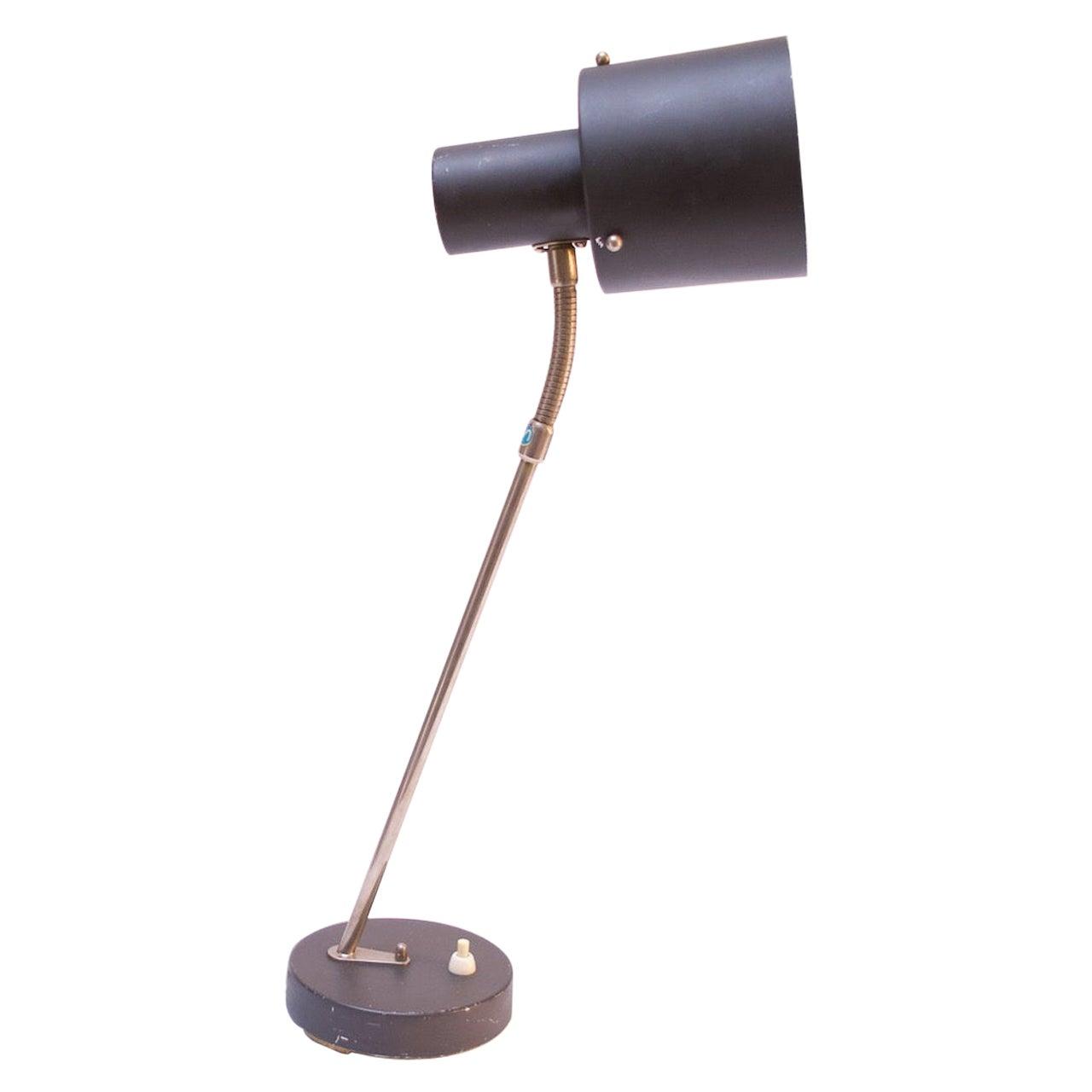 Midcentury Swedish Modern Gooseneck Table Lamp by Ewå Värnamo