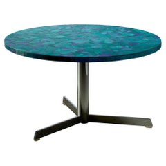 Berthold Muller Mosaic Coffee Table in Blue, Germany, 1950s