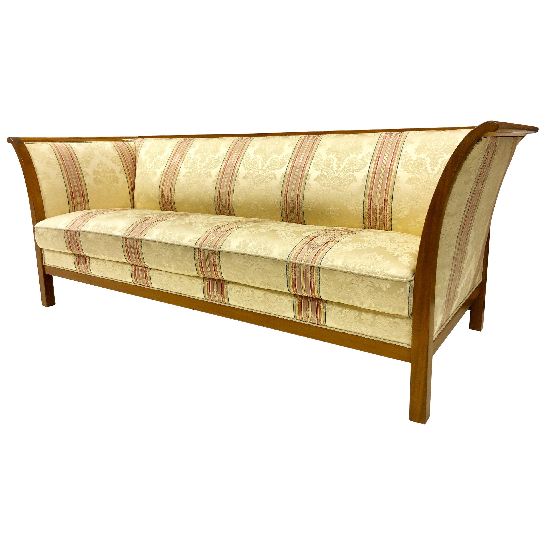 Frits Henningsen Mahogany Frame Sofa