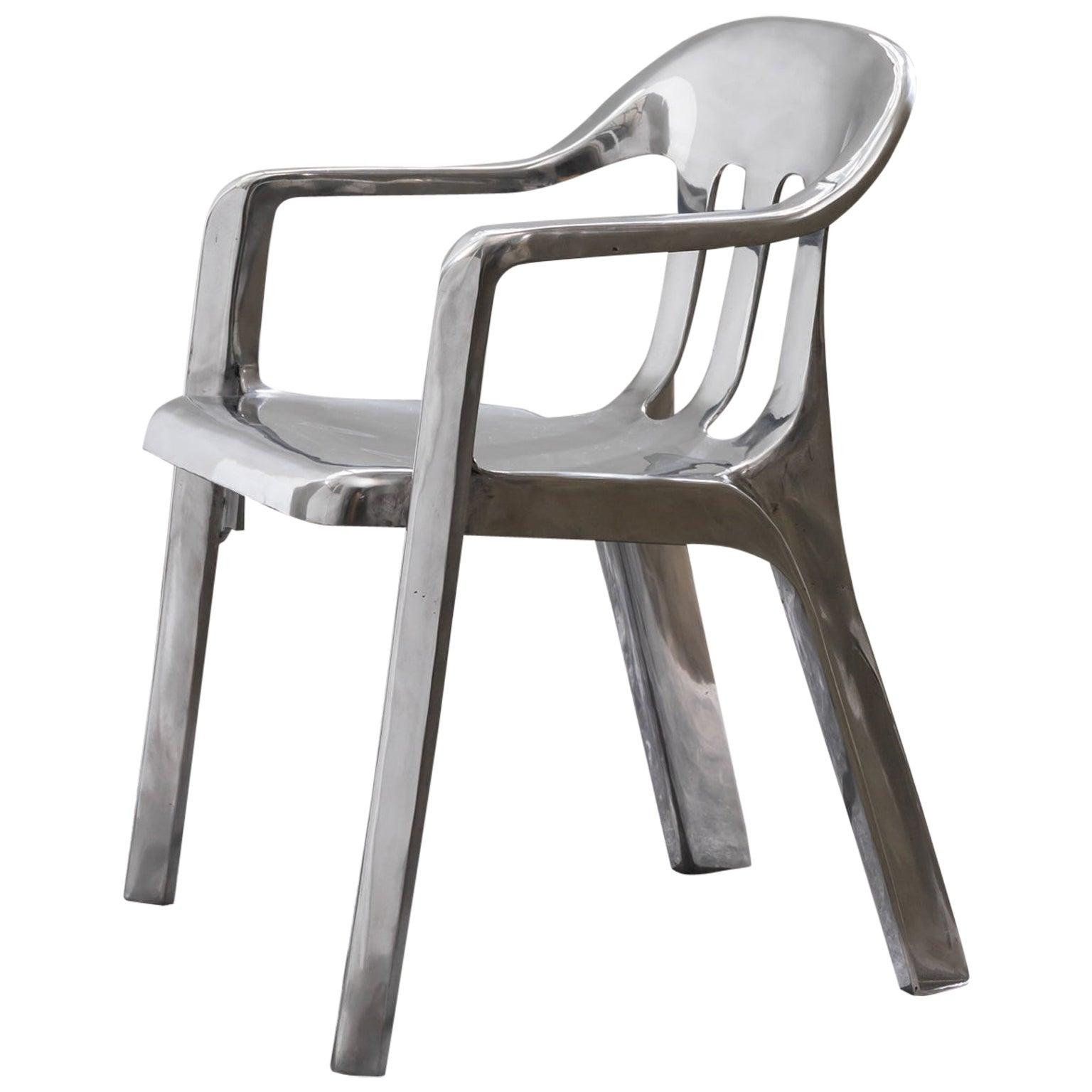 Contemporary Chair in Cast Aluminum
