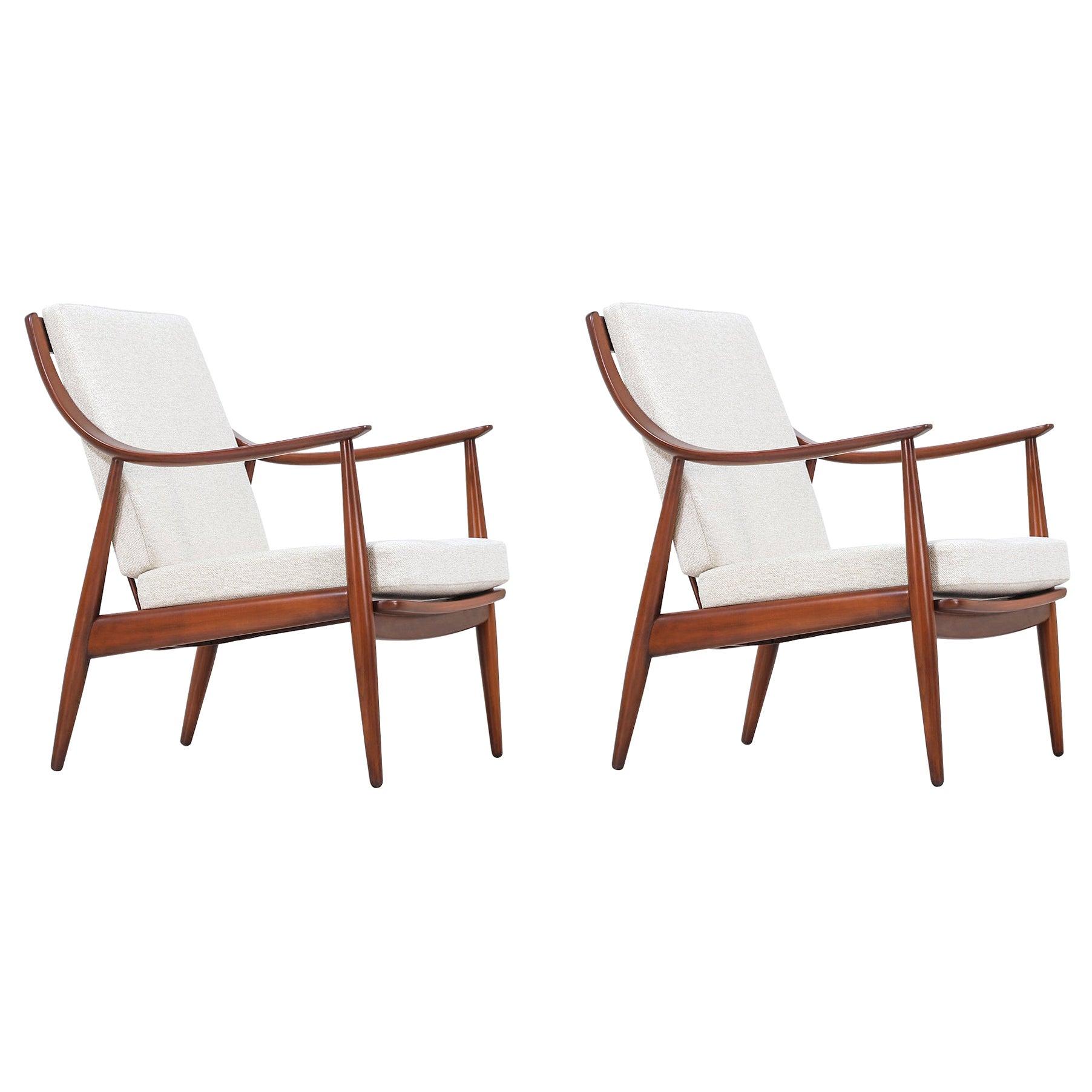 Peter Hvidt & Orla Mølgaard-Nielsen Model FD-146 Lounge Chairs