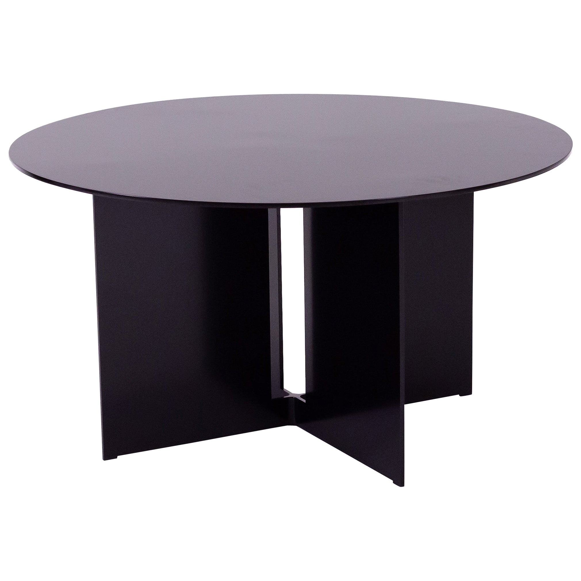 Mers Coffee Table in Aluminum Powdercoat Black