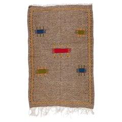 Vintage Tribal Moroccan Grey Rug or Carpet