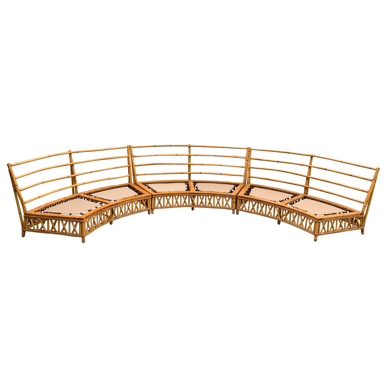 Midcentury Ficks Reed Rattan Sectional Sofa