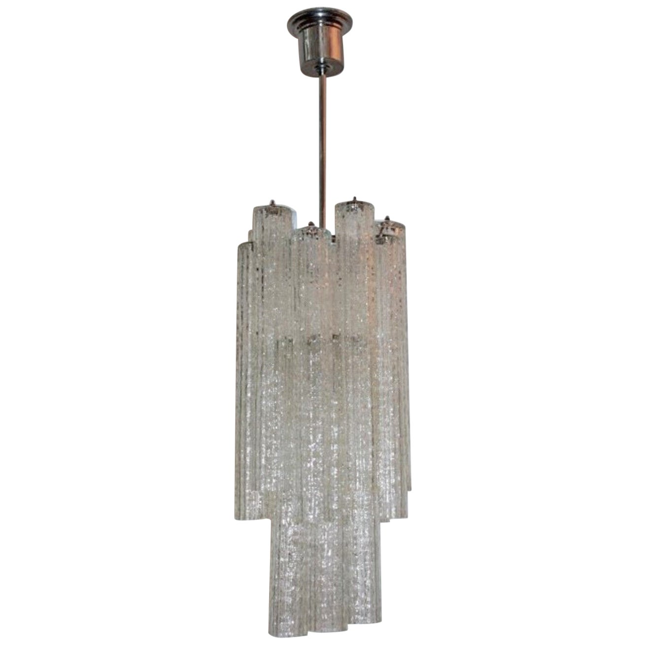 "Chandelier 1970s ""Tronchi"" by Venini"