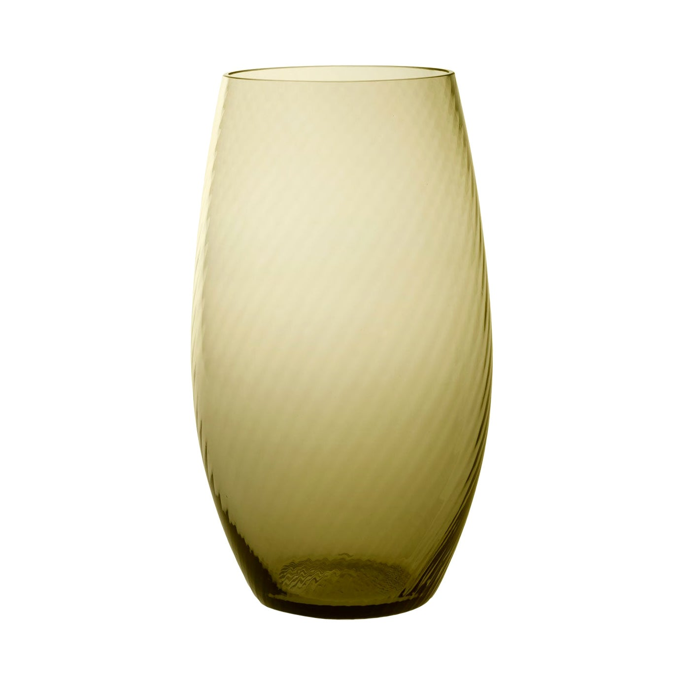 Vaso Ovale28, Vase Handcrafted Muranese Glass, Angora Twisted MUN by VG