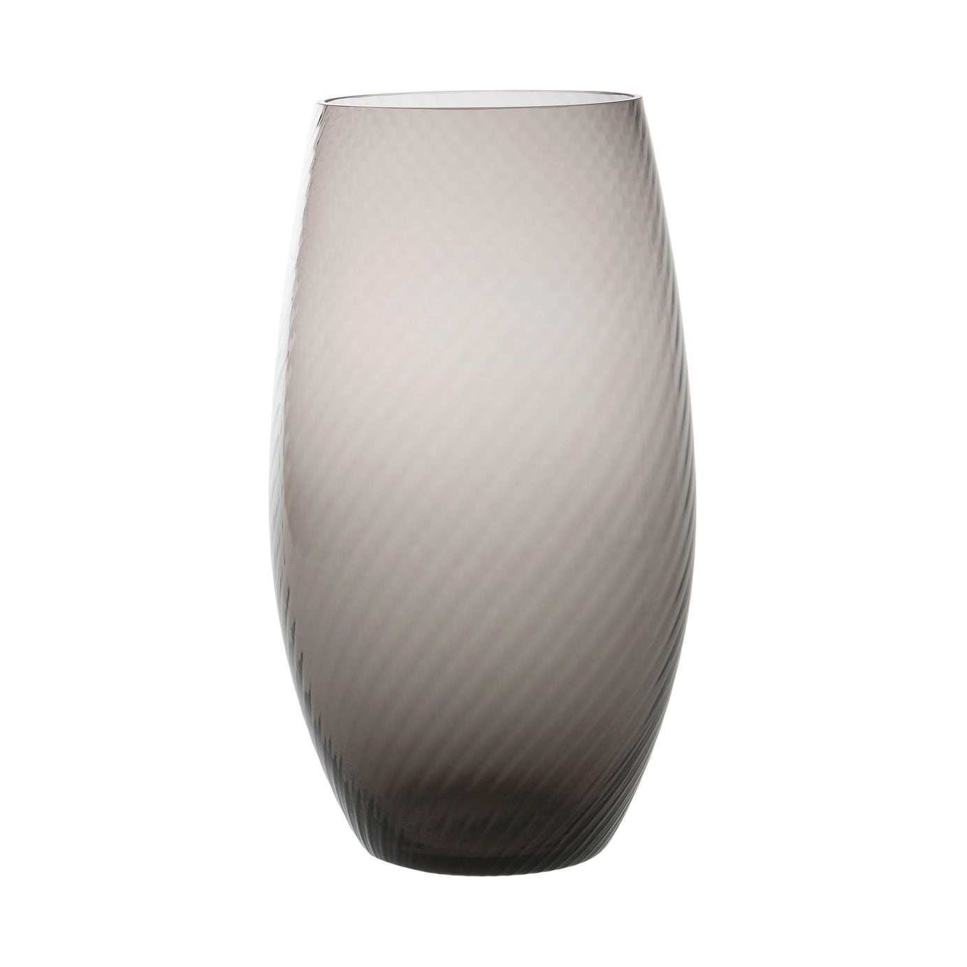 Vaso Ovale28, Vase Handcrafted Muranese Glass, Lead Twisted MUN by VG