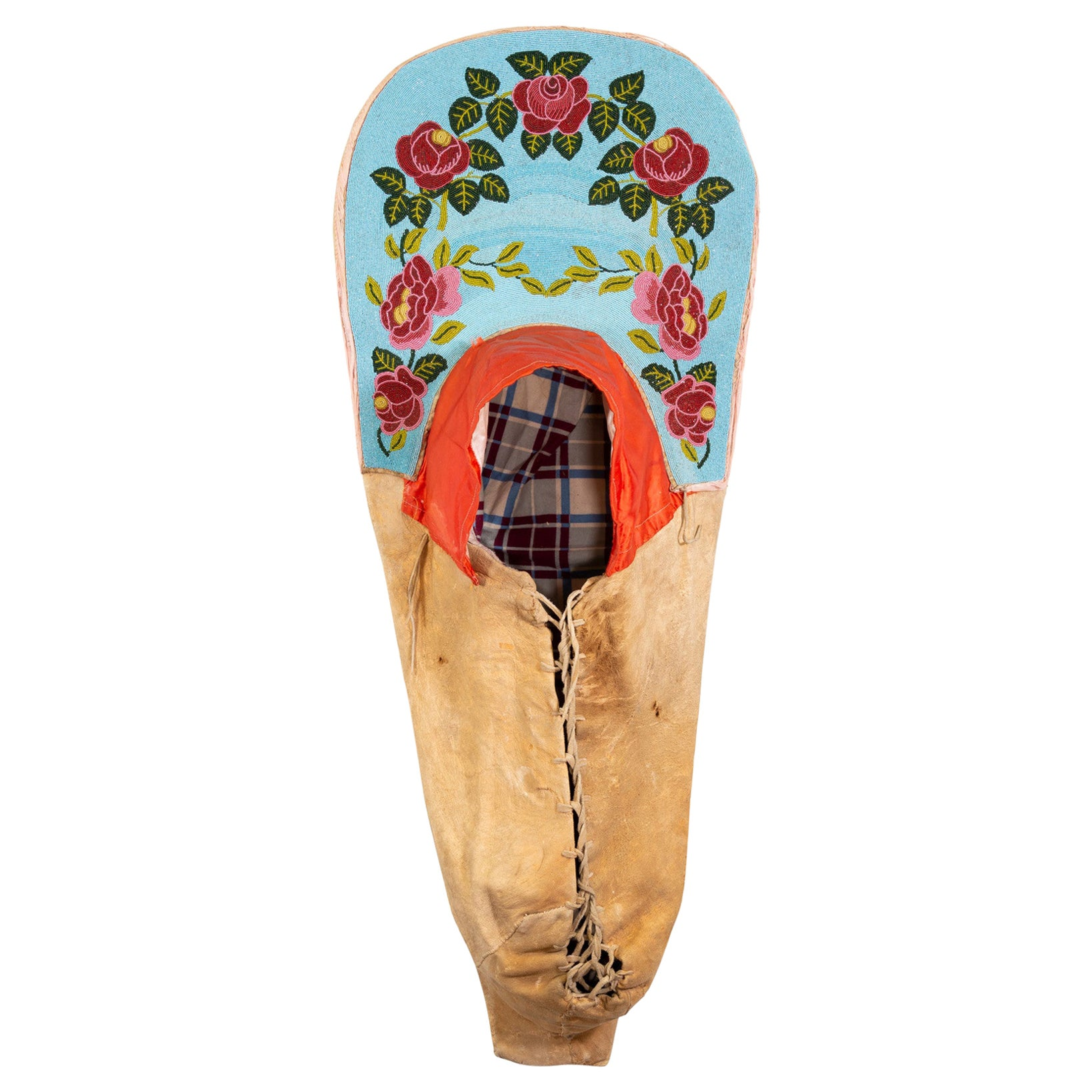 Authentic 19th Century Nez Perce Beaded Cradleboard