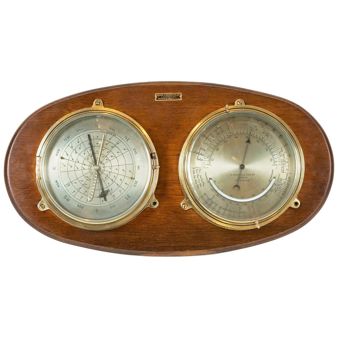 Rare Barocyclonometer by Henry Hughes & Son of London