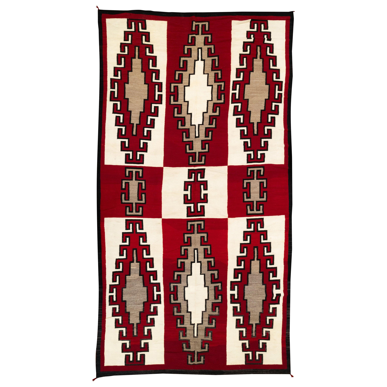 Extra Large 1920s Navajo Ganado/Floor Weaving