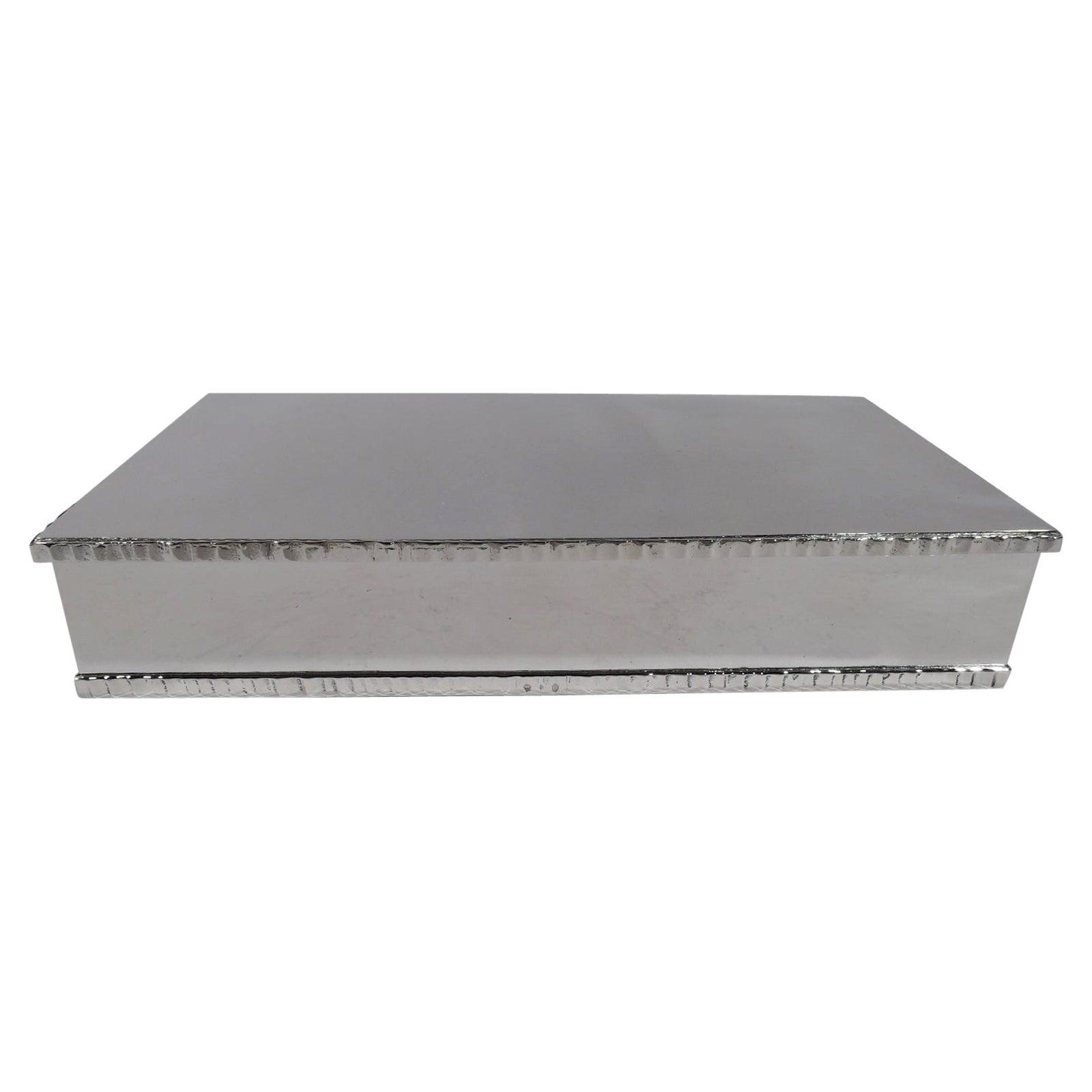 American Modern Handmade Sterling Silver Box