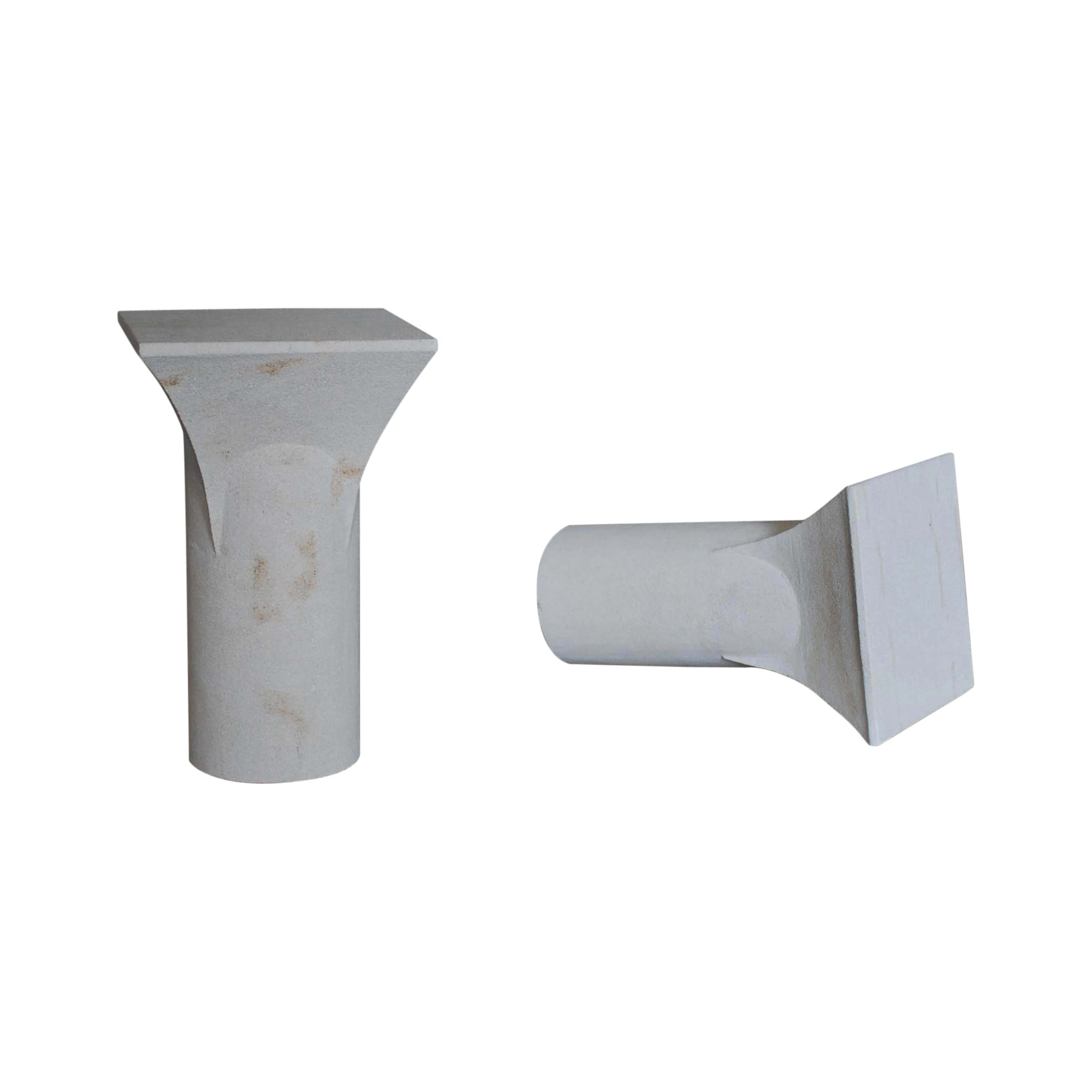Pair of Sireul Stone Side Tables, Frederic Saulou