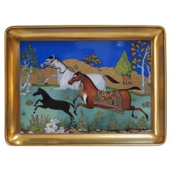 "Hermès Porcelain ""Cheval d'Orient"" Small Charge Tray, France, Modern"