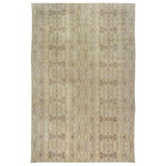 Contemporary Taupe & Beige Hand-knotted Wool Rug