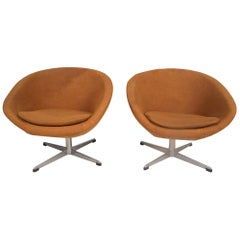 Swedish Modern Swivel Pod Chairs by Overman AB