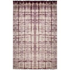 Cinnabar Tie Dye Modern Hand-knotted Silk Rug