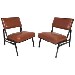 Midcentury Lounge Chairs by Steelcase, a Pair