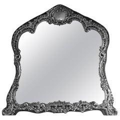 Antique English Sterling Dressing Table Mirror, Birmingham 1898 H. Matthews