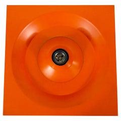 Orange Flush Mount or Wall Lamp by Klaus Hempel for Kaiser Leuchten, 1970s