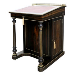 Antique English Edwards & Roberts Coromandel Davenport Desk, 19th Century