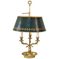 French Bouillotte Empire Style Bronze Table Lamp