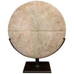 Bactrian Green Marble Disc Idol, 2nd Millennium B.C.