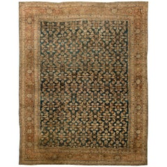 Antique Persian Sultanabad Handwoven Wool Rug
