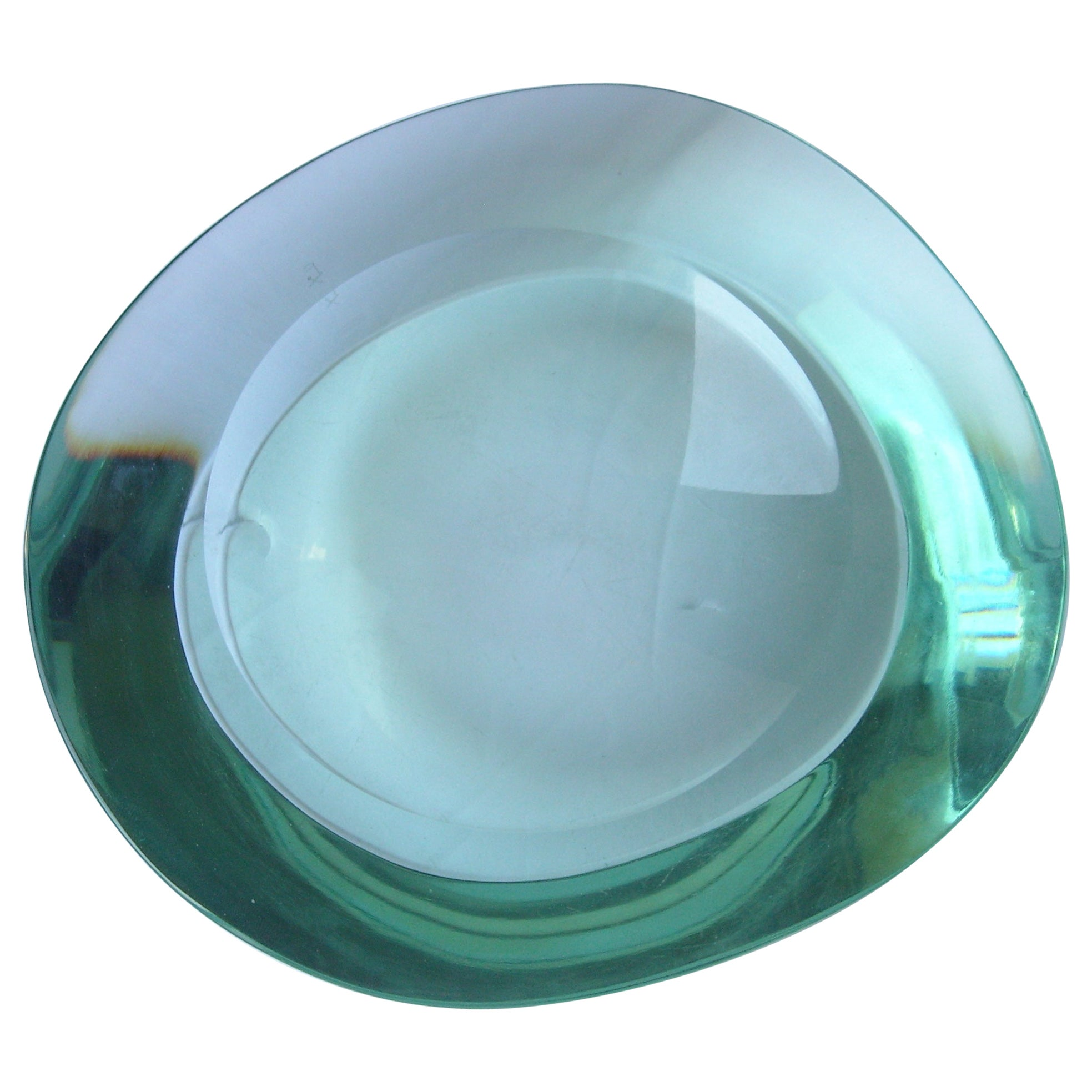 Fontana Arte Glass/ Crystal, Dish, Vide-Poche, Free Form Shape Signed FX