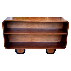 Art Deco Solid Wood Modernist Bookcase Shelves, circa 1930