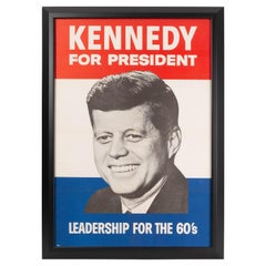"""""""Kennedy for President"""" Original Presidential Campaign Poster, 1960"""
