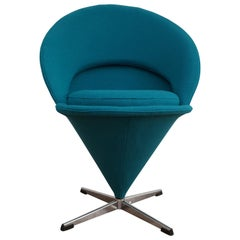 "Danish Design, Verner Panton, ""Cone Chair"" Completely Renovated, 1970s"
