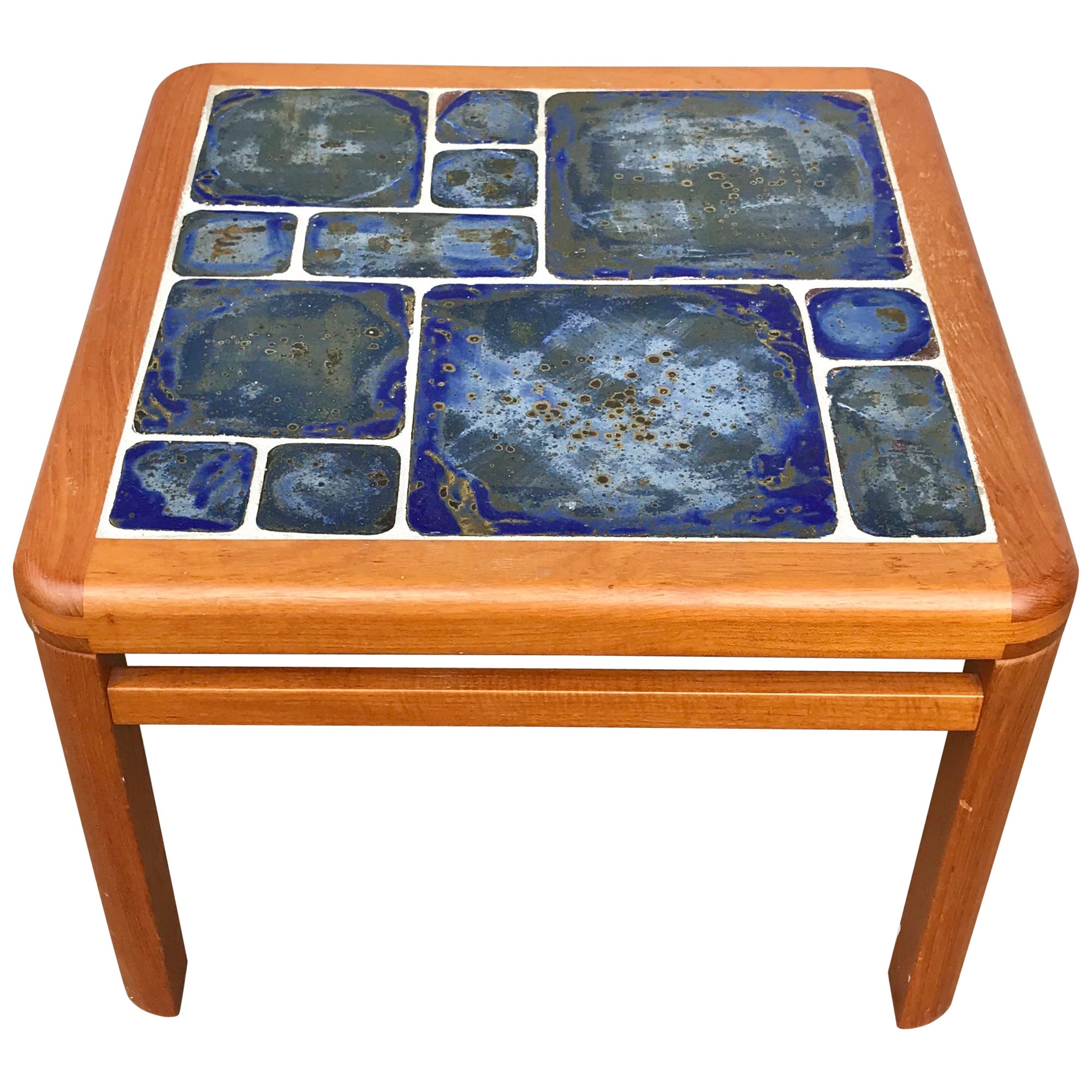 Tue Poulsen Danish Modern Hand Painted Tile Coffee Table