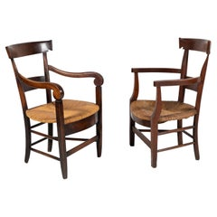 Set of Early 20th Century French Rush Armchairs