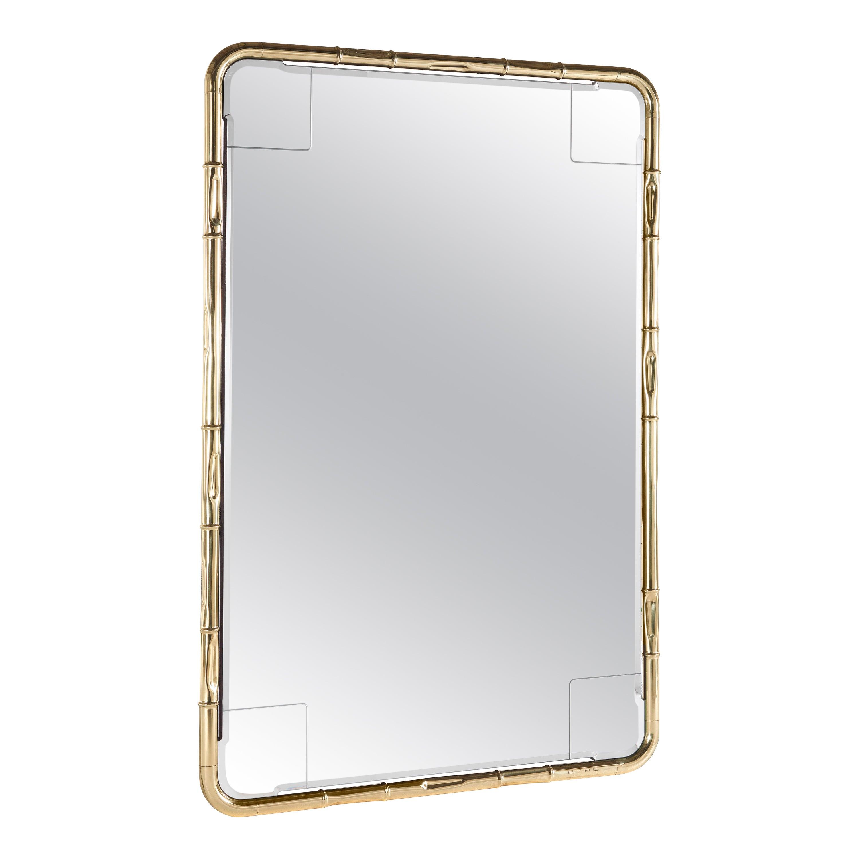 Etro Home Interiors Delfi Mirror in Polished Brass