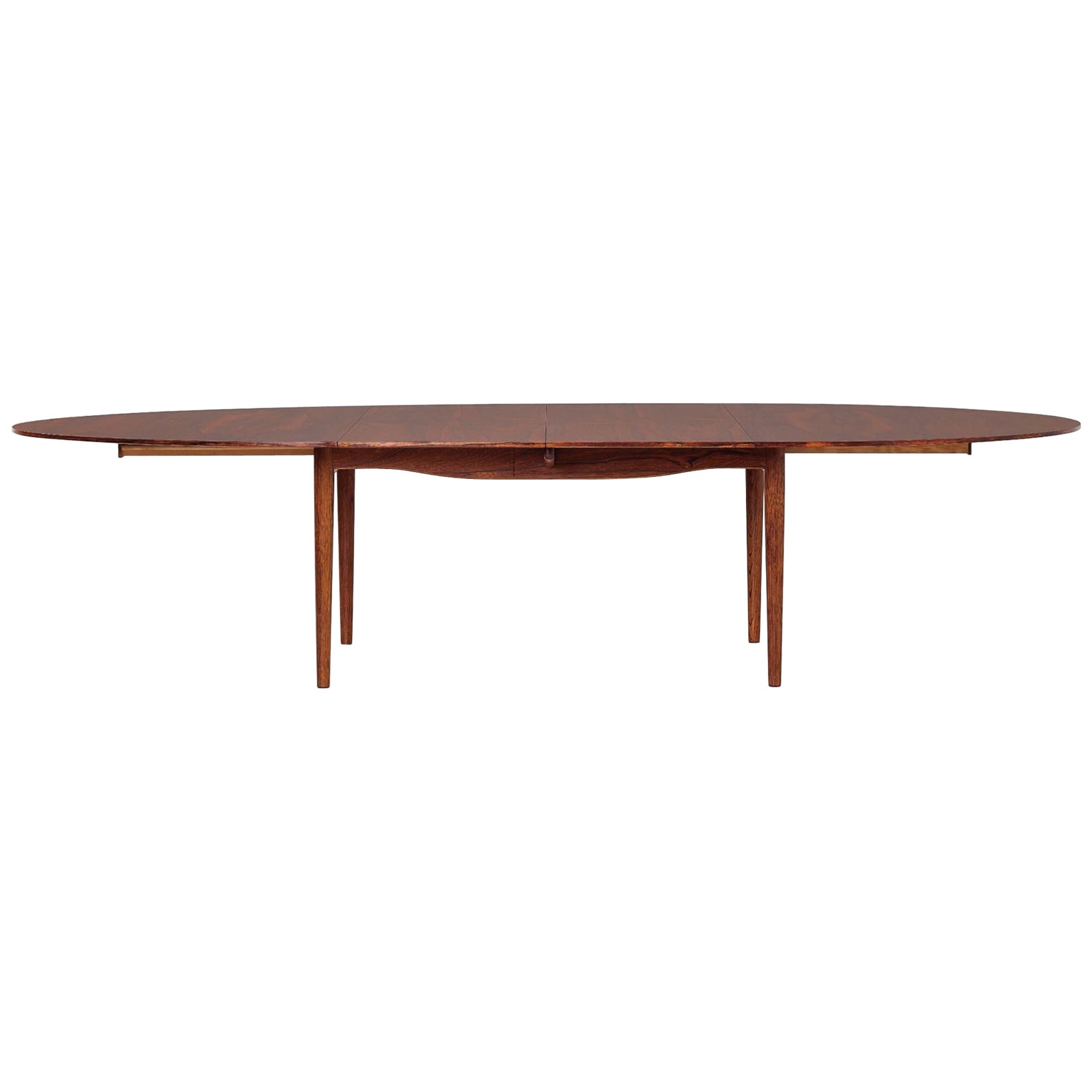 Finn Juhl Large 'Judas' Dining Table in Brazilian Rosewood for Niels Vodder 1949
