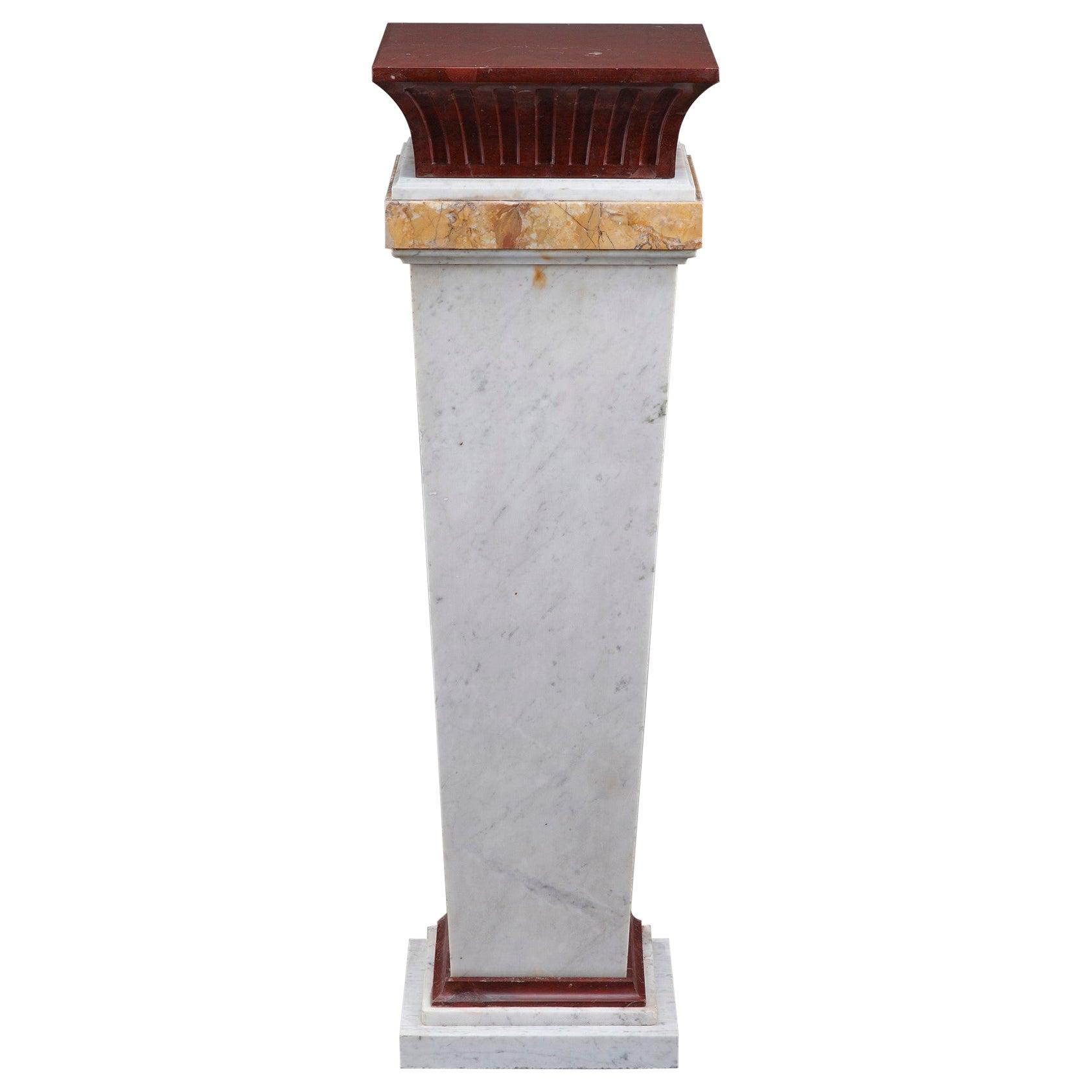 Mid-19th Century Marble Pedestal Column