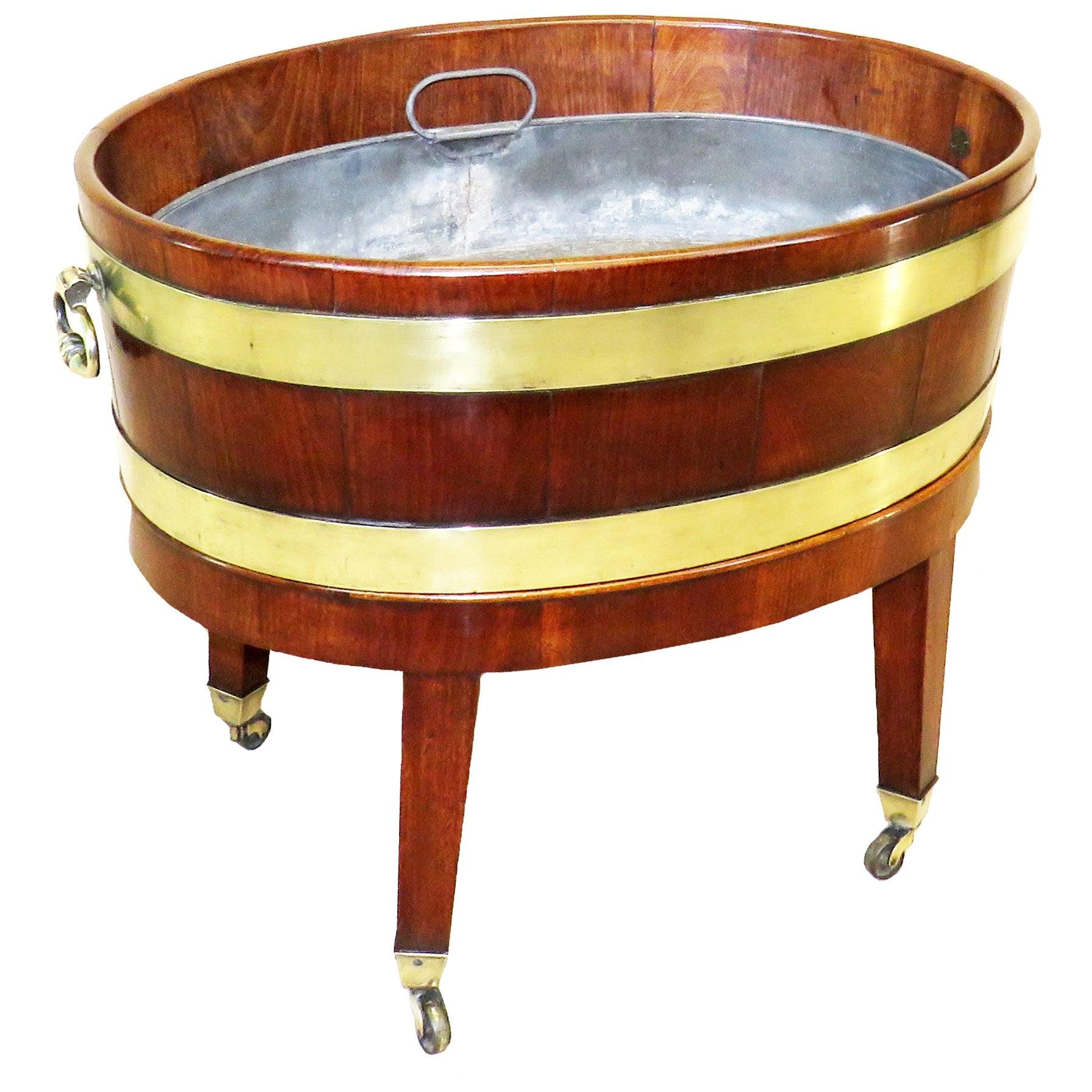 Georgian 18th Century Mahogany Oval Open Wine Cooler