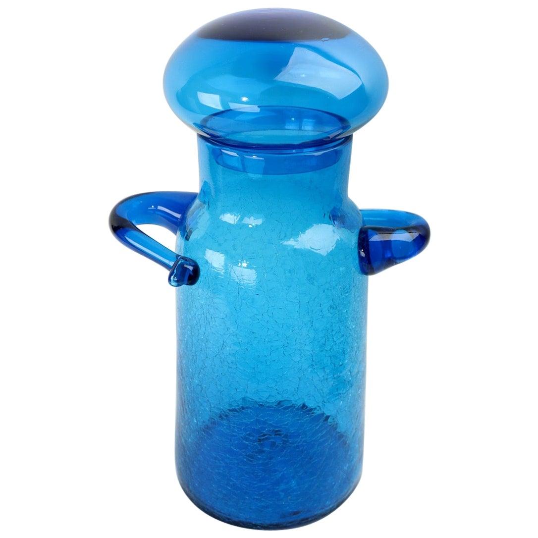 Lidded Glass Jar Designed by John Nickerson for Blenko