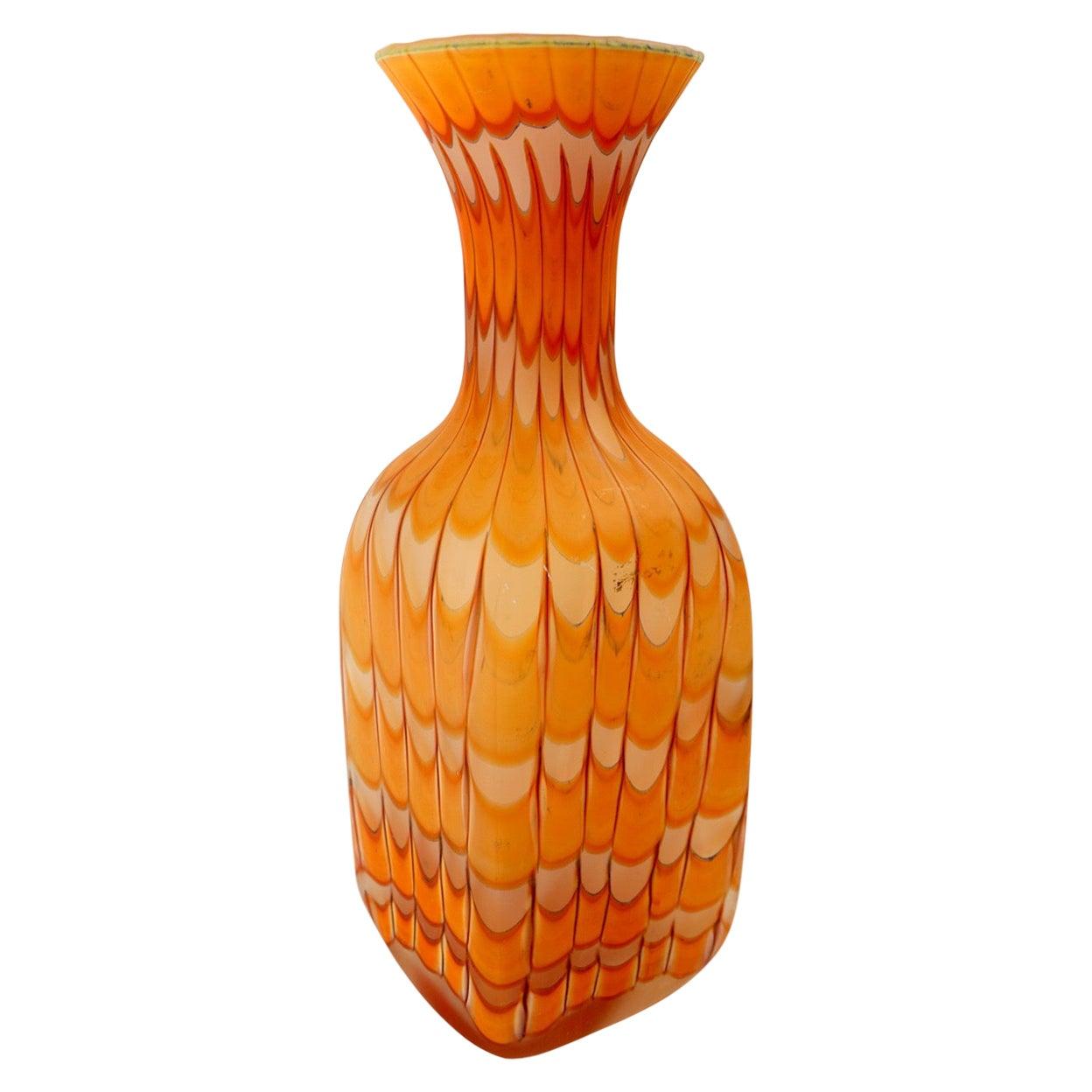 Murano Art Glass Fenicio Vase by Fratelli Toso