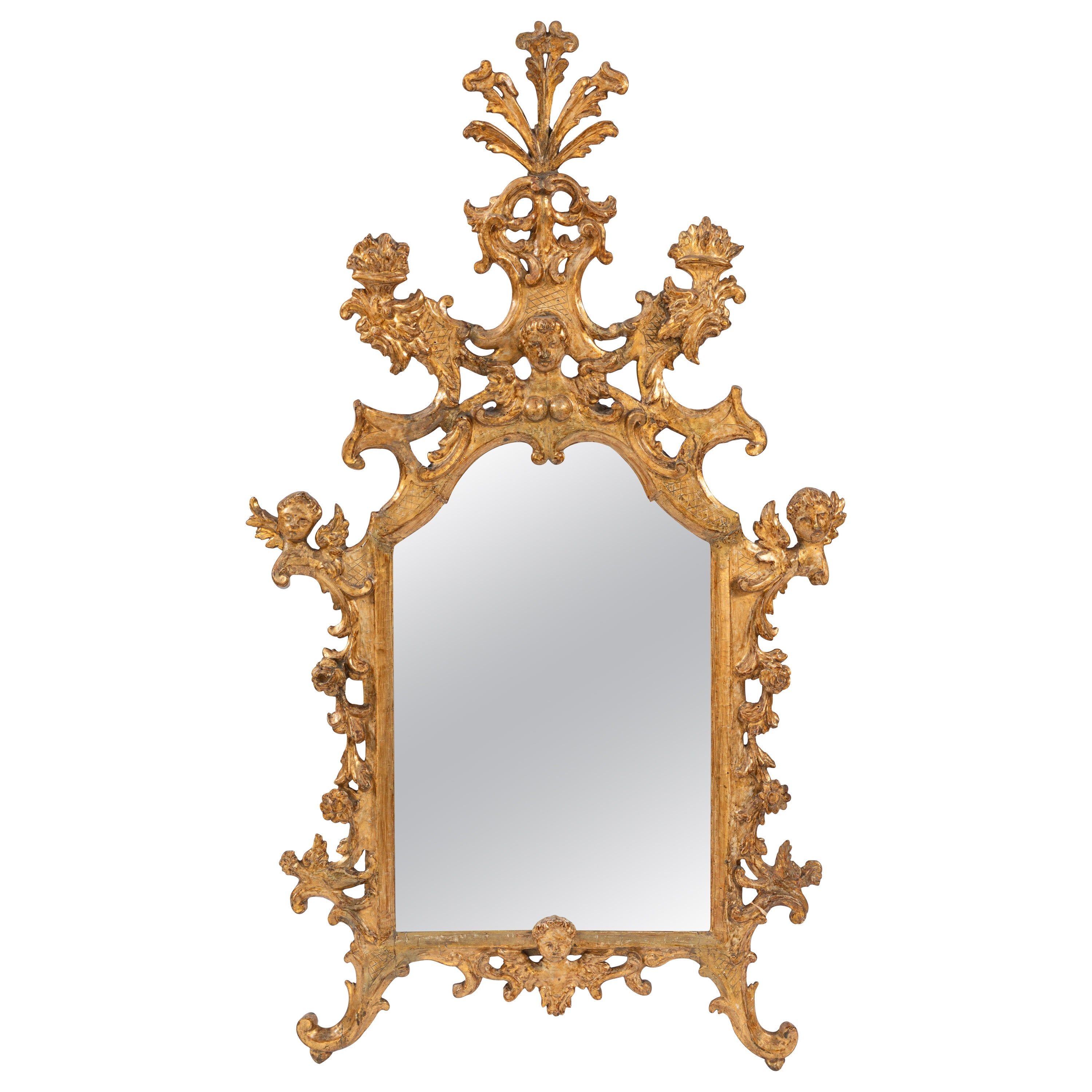18th Century Venetian Carved Giltwood Mirror