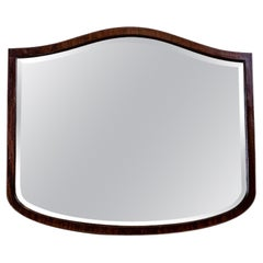 19th-Century Crystal Mirror in a Wooden Frame