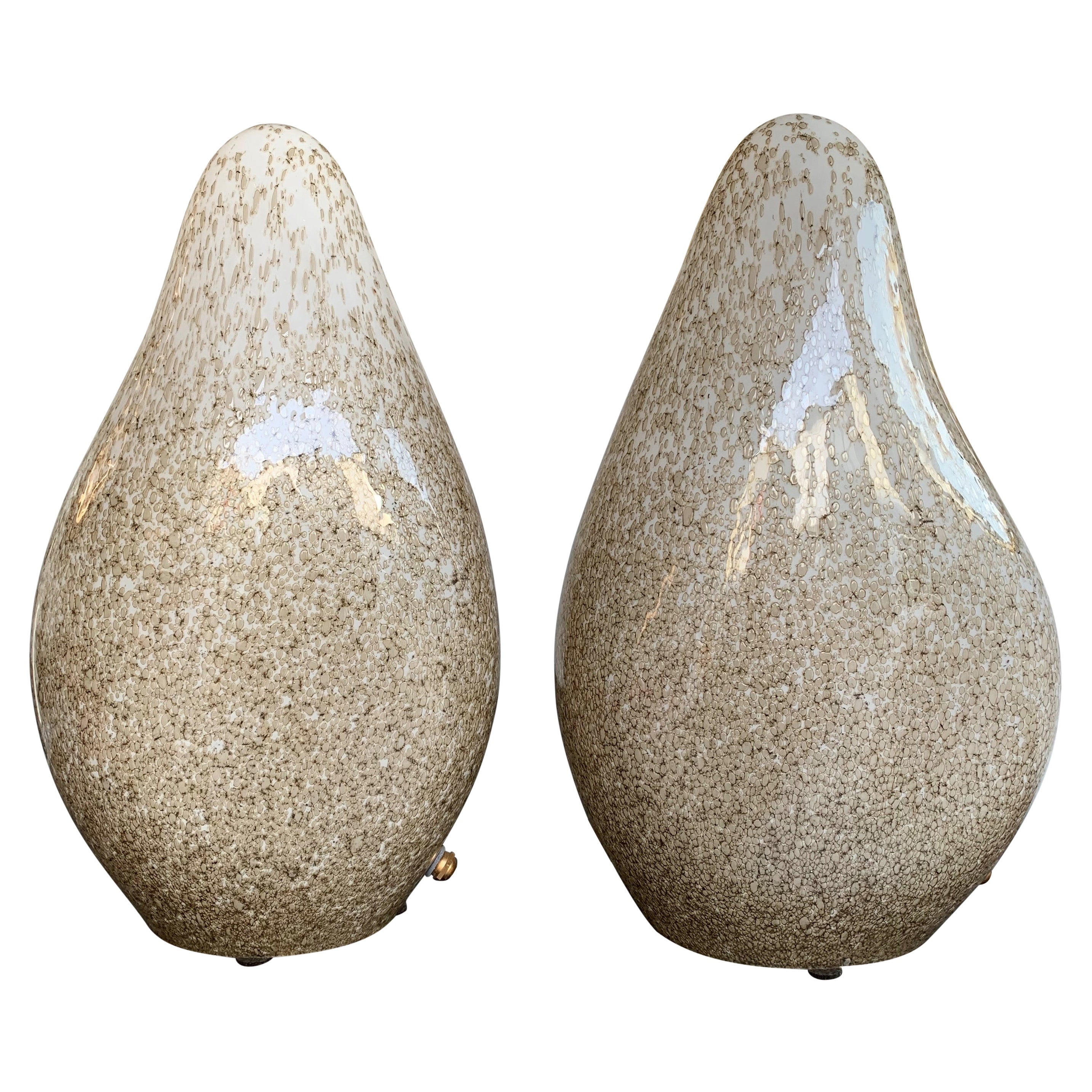 Pair of Glass Lamps by La Murrina, Italy, 1970s