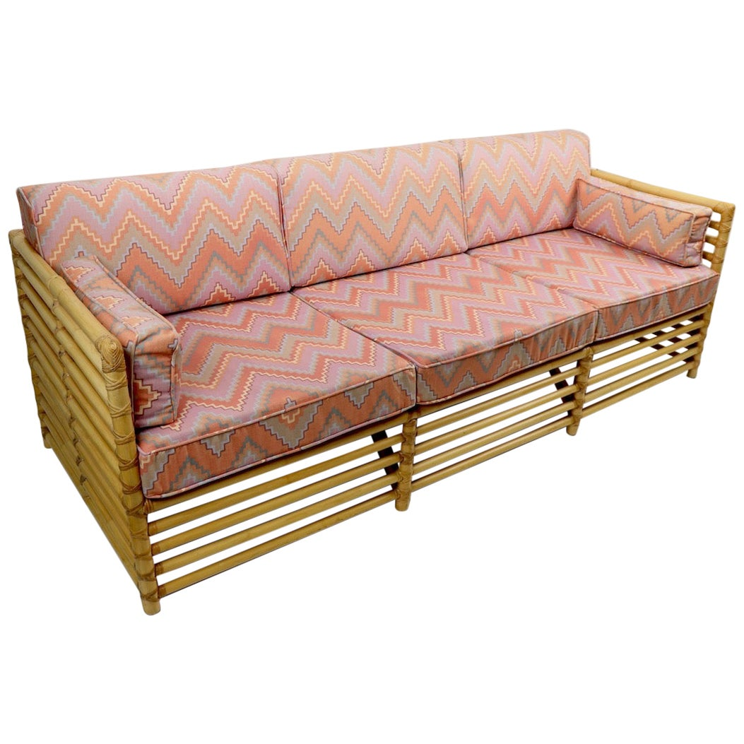 Bamboo Box Sofa by Henry Olko for Willow and Reed